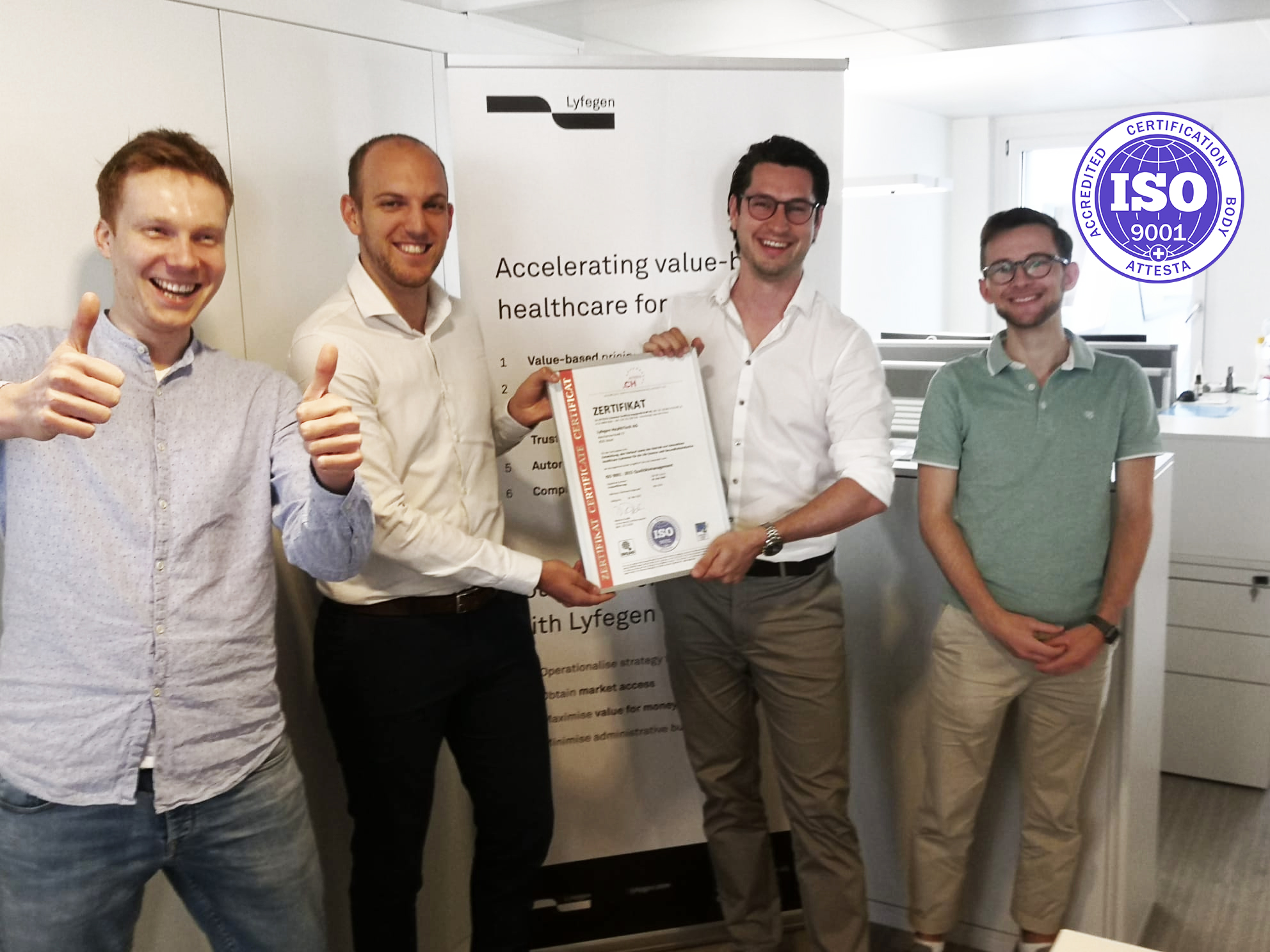 At Lyfegen customers are at the centre of our heart! We are proud to announce that we are ISO 9001:2015 certified!
